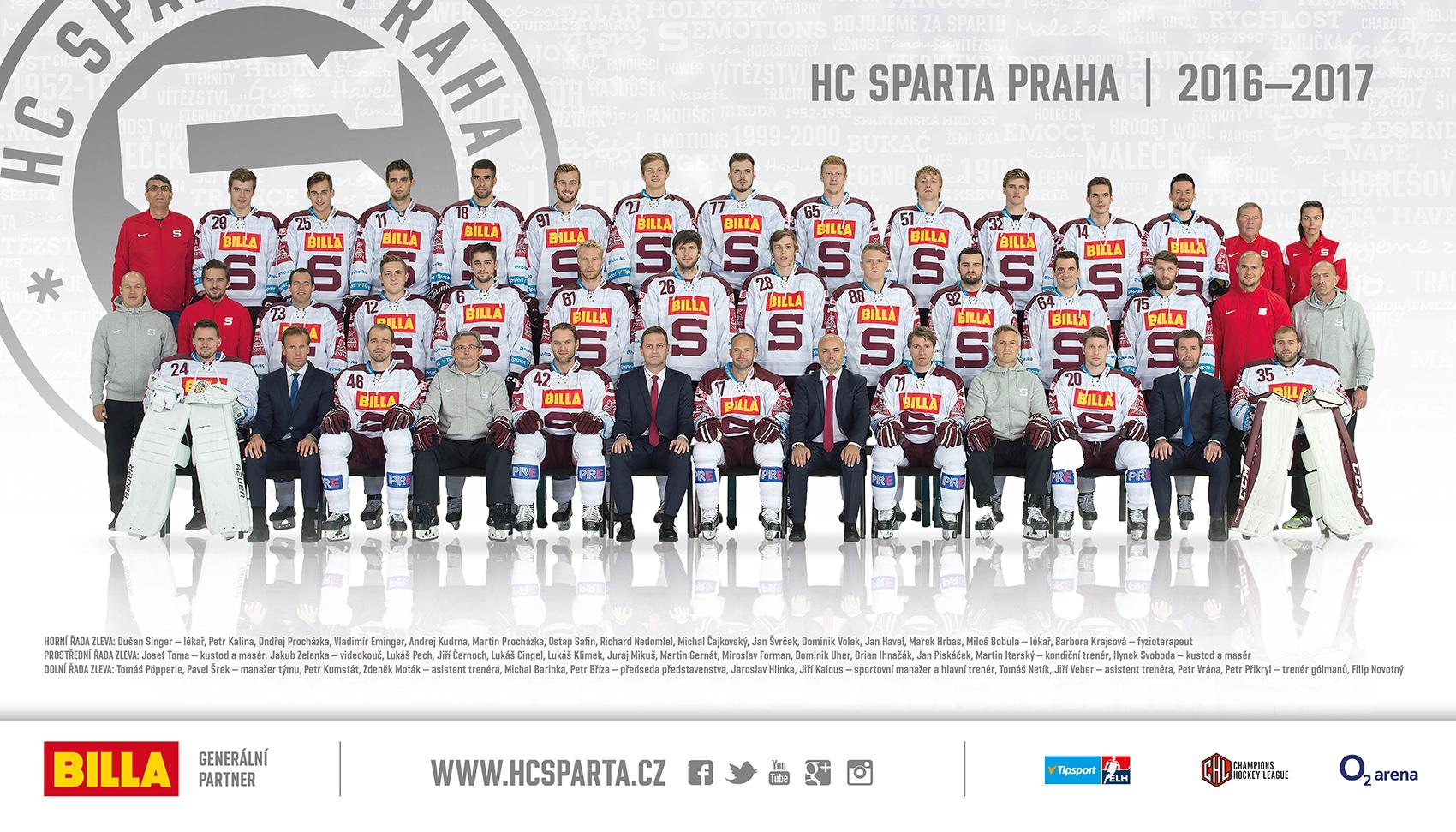 Sparta v sezone 2016/2017