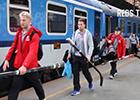 Přehrát video: Sparťané jedou na Kometu vlakem!